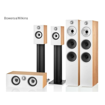 Bowers & Wilkins 603 S2 + 607 S2 + HTM6 S2 tölgy