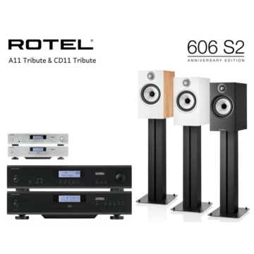 Rotel A11 Tribute + CD11 Tribute + Bowers & Wilkins 606 S2