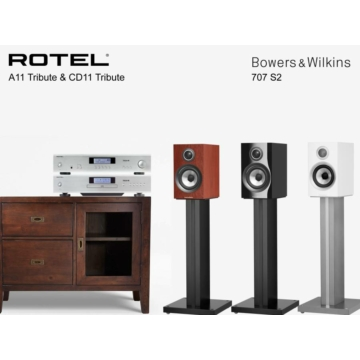 Rotel A11 Tribute + CD11 Tribute + Bowers & Wilkins 707 S2