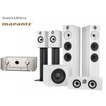 Marantz SR5015 ezüst + Bowers & Wilkins 603 S2 moziszett fehér