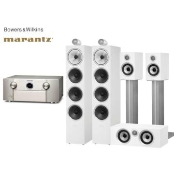 Marantz SR7015 + Bowers & Wilkins 702 S2 + 707 S2 + HTM72 S2 rózsafa