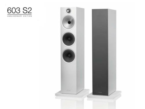 603 S2 Anniversary Edition Fehér álló hangfal