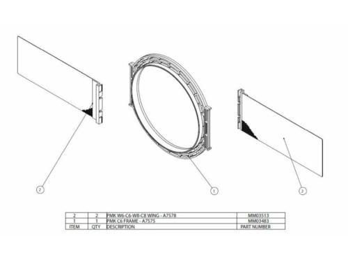 PMK C6 Beépítő keret