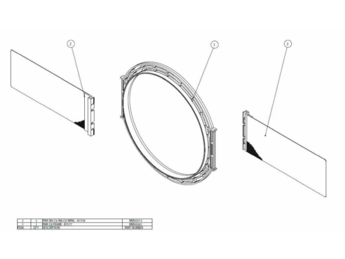 PMK C8 Beépítő keret